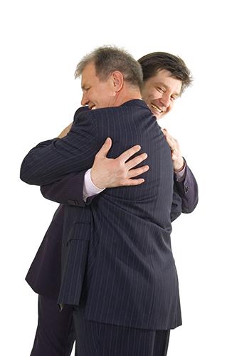 two successful bisness men