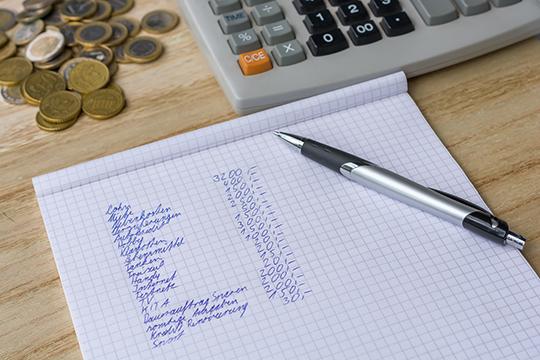 Monatliche Kosten auflisten