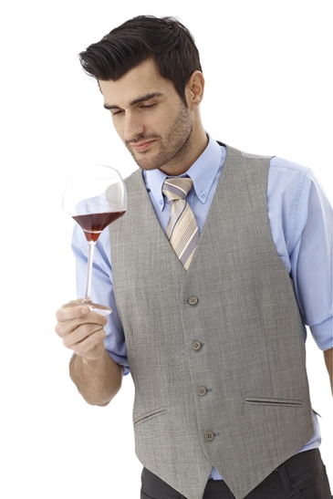 Wine-taster with glass of wine