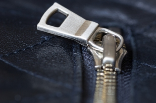 Zipper on a leather Jacket