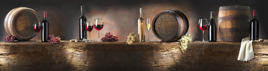 still life with red and white wine