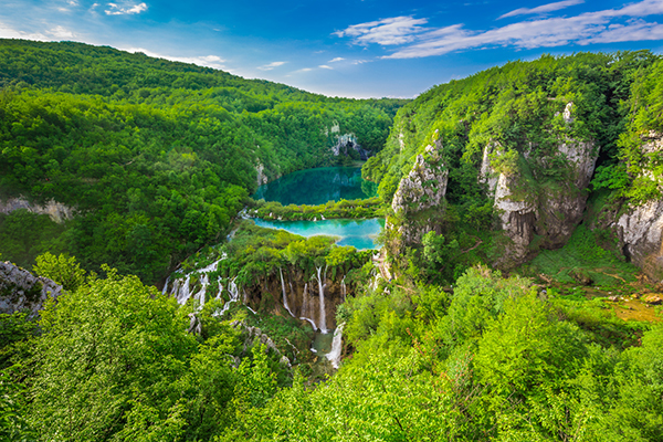 Plitvice Lakes NP from Vidikovac point #2,  Croatia