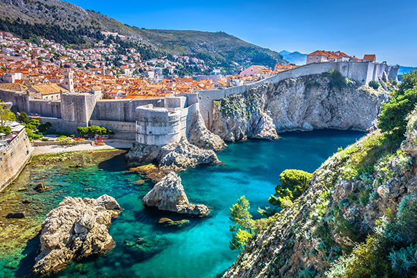 Dubrovnik landscape. / Aerial view at famous european travel des