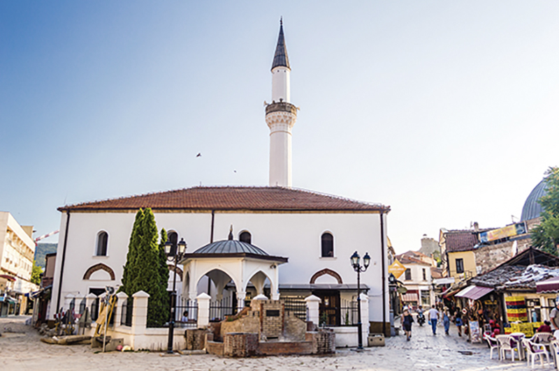 Murat Pasha Mosque located in the Old Bazaar of Skopje, Macedoni